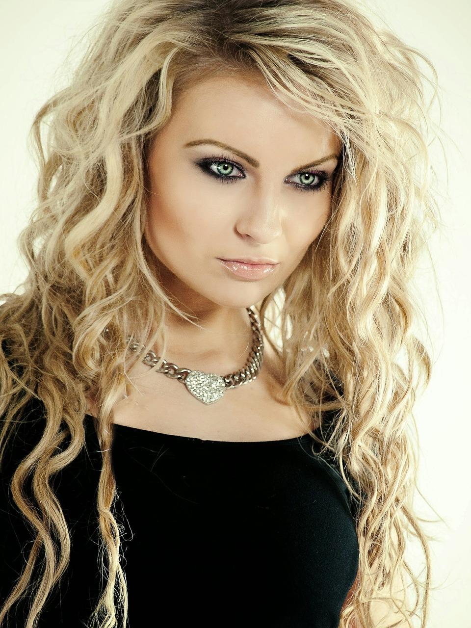 Honey blonde - blonde hair with a warm golden glow.