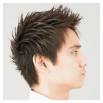 japanese hairstyles - men - Middle hair spiked